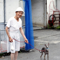 おじちゃん犬散歩