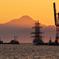 海王丸と熊本港夕景