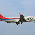 「☁雲なし」 Cargolux 747-400 LX-YCV 到着
