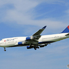 「空色」 DELTA 747-400 N674US 到着