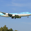 [青い空]Korean Cargo 747-8 HL7617着陸