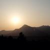 朝焼けの武甲山