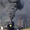 篠目駅発車の煙