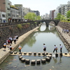 眼鏡橋が架かる中島川(^^)/