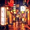雨降る法善寺横丁