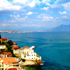 イタリア旅日記:南イタリア7:ナポリからヴェスヴィオ山を望む