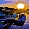 南浜漁港の朝