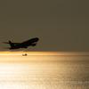 瀬戸の夕陽 金色の海原