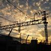 夕暮れと鉄道