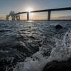 東京湾に日は沈む