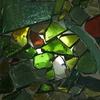 ステンドグラス グリーン