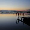 印旛沼・朝景 - シルキーな水面 -