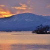 湖北日没後、彩の風景