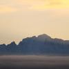 頭は雲の上・・今朝の剱岳