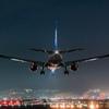Night arrival flight 「Boeing 777-200」