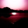 夕暮れの上原堤