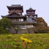 花は散りタンポポ残りし城の前