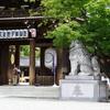 神門と狛犬