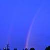 夜明けのw虹