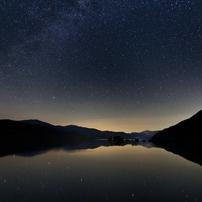 秋元湖の黎明
