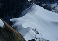 アルプス山脈をトレッキング