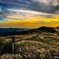 生石高原の夕景