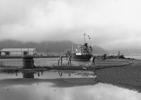 関門海峡にて