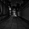 夜の東山 2019 師走 その2(モノクロ・バージョン)
