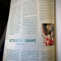 ANA In-flight magazine reading
