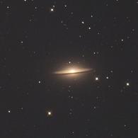 ソンブレロ銀河で試写