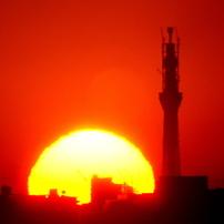 東京スカイツリーと日の出