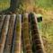 DSC04638. 涼しくて心地よい竹のベンチ