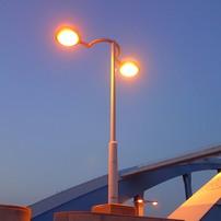 丸子橋のメガネみたいな外灯