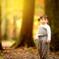 秋の光とアヒル口