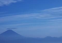 昇仙峡パノラマ台からの富士山