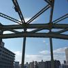 萬年橋から眺める清洲橋