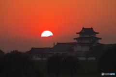 関宿城の夕景02