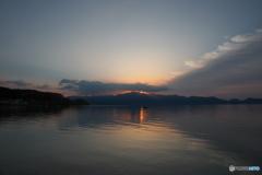 猪苗代湖畔