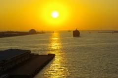 天保山 夕陽2