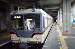 地鉄・立山駅にて
