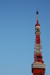 tokyo tower today being repaired