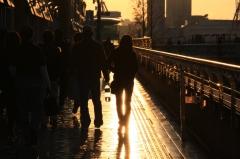 雨のち夕日