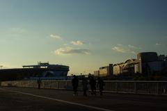 スタジアムのある風景
