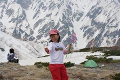 雪山でシャボン玉