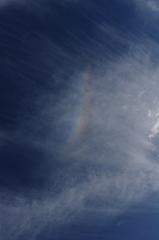 秋空の逆さ虹