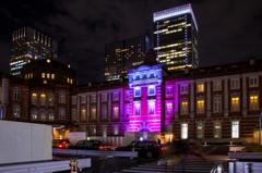 東京ミチテラス2015 東京駅スペシャルライトアップ試験点灯