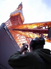 東京タワー撮影中
