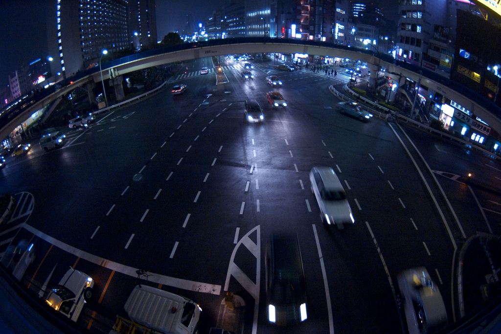 junction of five streets, in iidabashi
