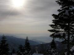 雪山からの景色