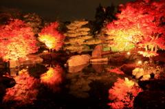 築山池泉の庭